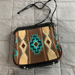 Montana West Embroidered Western Crossbody Purse